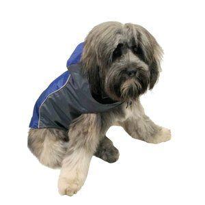 NWT Royal Animals Dog Raincoat Blue/Gray XS